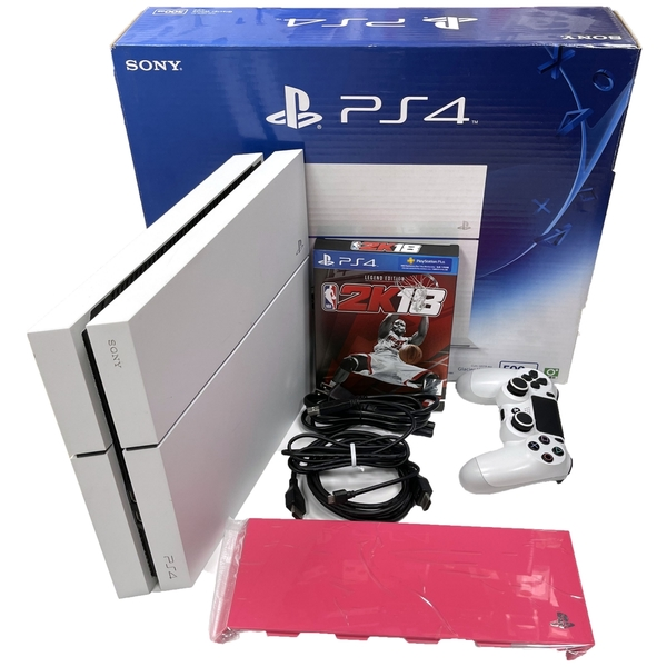 【PS4主機】 白色9成新 1207A 500G冰河白 台灣公司貨+原廠蓋+NBA2K18傳奇版 【中古二手】台中星光