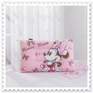 ♥小花花日本精品♥《Disney》迪士尼米妮 點點 麗絲絨水洗大學枕 靠枕 粉色 附提袋 (預購)