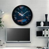 摩門鐘表掛鐘客廳創意現代時鐘石英鐘表【好康嚴選九折柜惠】