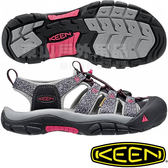KEEN 1016288黑/灰 NewPort H2 女戶外護趾涼鞋 水陸兩用溯溪鞋/運動健走鞋