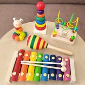 幼兒童嬰兒積木手敲琴8個月寶寶益智樂器玩具