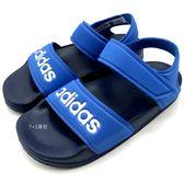 《7+1童鞋》中大童 ADIDAS 輕量 休閒 防水涼鞋 7350 藍色