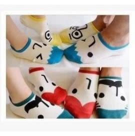 預購 - 純棉短襪 表情襪 男女情侶襪 卡通 船襪