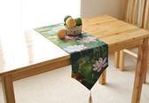 時尚可愛空間餐桌布 茶几布 隔熱墊 鍋墊 杯墊 餐桌巾桌旗142 (30*220cm)