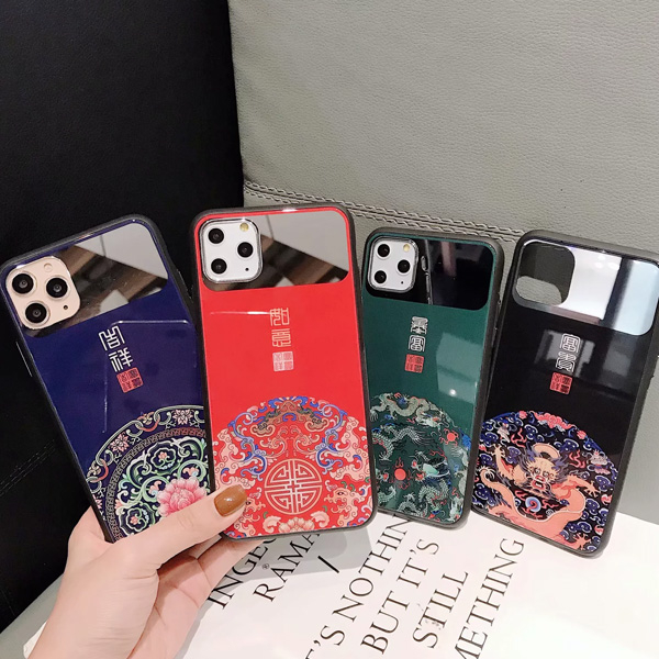 蘋果 iPhone 11 pro max xr xs max ix 鏡面宮廷 手機殼 全包邊 可掛繩 保護殼