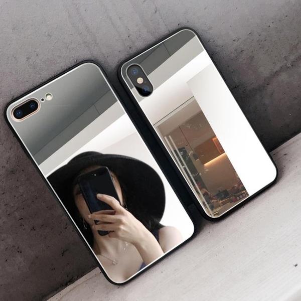 網紅同款蘋果x手機殼鏡面7p新款XR鏡子6splus個性女款iPhone8全包11防摔SE創意pro軟8plus抖音ins 陽光好物