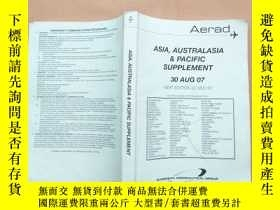 二手書博民逛書店航空飛機類:ASIA罕見AUSTRALASIA & PACIFIC SUPPLEMENTY11026 EURO