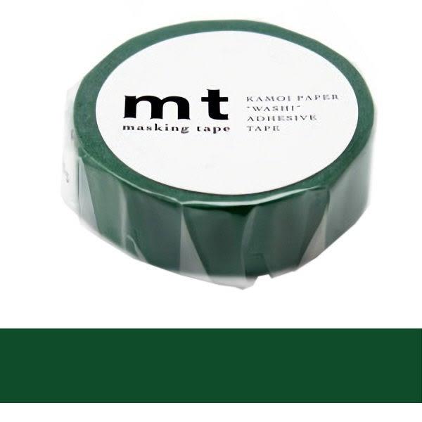 日本mt Masking Tape 和紙膠帶 孔雀綠 15mm