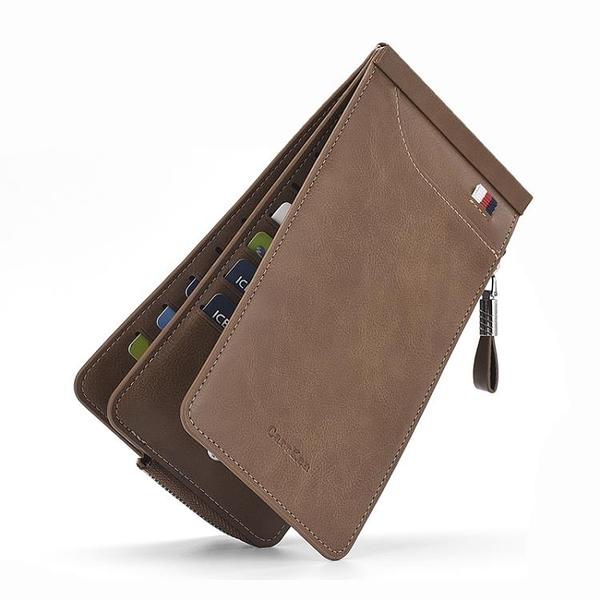 男士卡包多卡位銀行卡包信用卡套 女式超薄長款拉錬錢包手機包潮 黛尼時尚精品