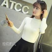 半高領毛衣女短版長袖針織衫加厚套頭打底衫女裝冬裝熱賣夯款