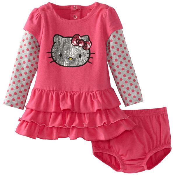 美國凱蒂貓長袖連身裙洋裝套裝: 21211