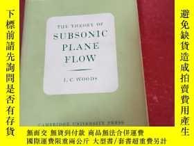 二手書博民逛書店THE罕見THEORY OF SUBSONIC PLANE FLOWY281199 L.C. WOODS CA