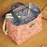 女士手提飯盒袋子韓國小號方形便當包袋小拎包帶飯裝午餐的小布袋  青木鋪子