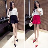 夏季新品短款一步修身顯瘦荷葉邊魚尾包臀半身裙 GB2724『愛尚生活館』