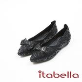 ★2017秋冬新品★itabella.時尚造型蝴蝶結尖頭鞋(7586-91黑)