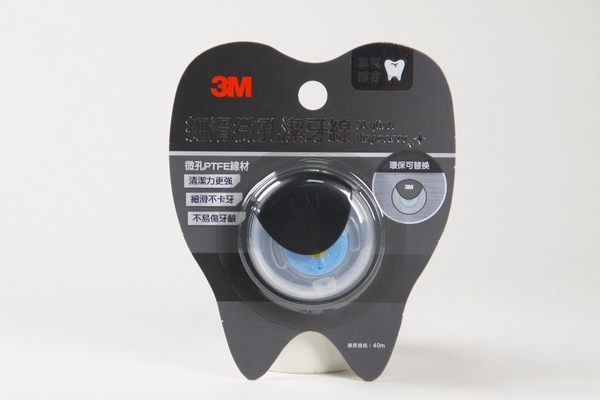 3M 細滑微孔潔牙線 簡約造型量販包 黑
