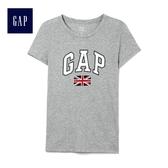 Gap女裝 LOGO系列純棉舒適圓領短袖T恤 223578-雜灰色