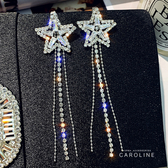 《Caroline》閃人耀眼水鑽流行時尚耳環72082