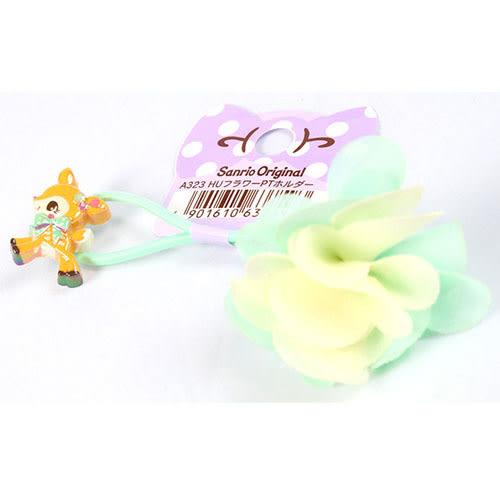《Sanrio》哈妮鹿粉嫩雪紡小花髮束_637599