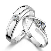 925純銀戒指鑲鑽-生日情人節禮物時尚浪漫流行男女飾品(單件)73ae21【巴黎精品】