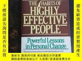二手書博民逛書店英文原版:Highly罕見Effective PeopleY10