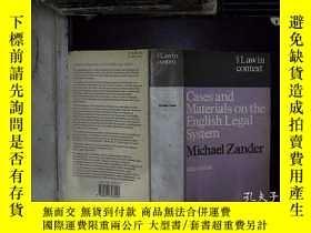 二手書博民逛書店cases罕見and materials on the english legal system 有關英國法律制度