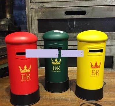 [協貿國際]   小郵筒擺件咖啡廳陳列格子裝飾品  (1入)
