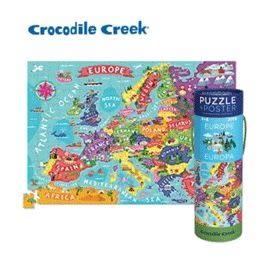 《美國Crocodile Creek》2合1海報拼圖系列-歐洲地圖(200片)