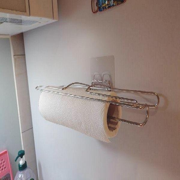餐巾紙架 無痕掛勾 不鏽鋼 好市多餐巾紙可用 超黏 凹凸平面皆可貼 耐重 台灣製造 熊好貼