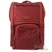 茱麗葉精品【全新現貨】GUCCI 510336 雙G緹花緞面尼龍束口翻蓋後背包.紅