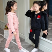 女童金絲絨套裝洋氣春秋季款中大兒童雙面絨兩件套小女孩衣服  俏女孩