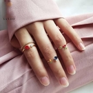 戒指 可調節關節細戒指女套裝時尚個性潮不...
