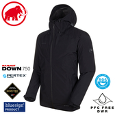 【MAMMUT 男Convey 3in1 Gore-Tex兩件式連帽外套《黑》】1010-27410/羽絨衣/防水外套