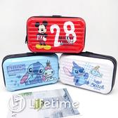 ﹝迪士尼硬殼旅行化妝包﹞正版 化妝包 收納包 硬殼包 旅行包 米奇 史迪奇〖LifeTime一生流行館〗