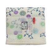 AKACHAN阿卡將 雙層(紗布+毛巾)25×38厚質手帕-菊唐草(藍)