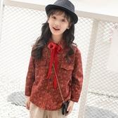 女童洋氣加絨襯衫冬裝2019新款韓版潮衣兒童秋冬季女孩上衣大童裝