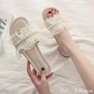 拖鞋 涼拖鞋女2021年新款夏季外穿網紅外出時尚仙女風珍珠ins潮沙灘鞋 618購物節