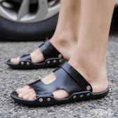夏季室外男士拖鞋2019新款一字拖沙灘鞋兩用軟底防滑外穿涼拖 CJ1935『易購3c館』