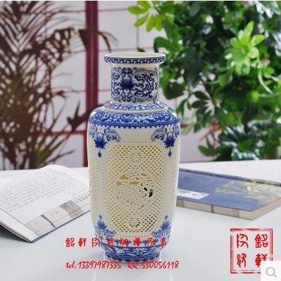 現代時尚 客廳創意擺件 鏤空陶瓷花瓶 圓形 風格 結婚禮品 苗冬瓜