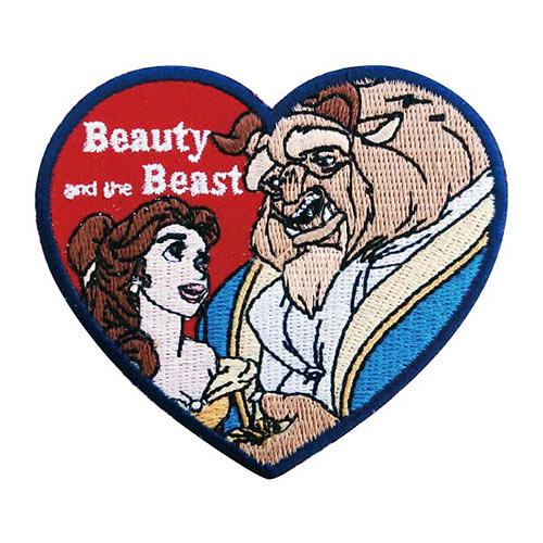《Small Planet》迪士尼公主徽章刺繡熨燙貼布(美女與野獸-愛心)_DP24754