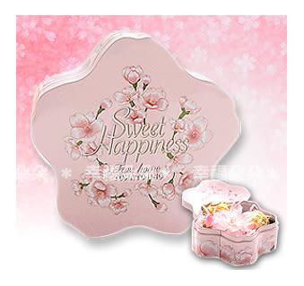 幸福朵朵*【日式櫻花馬口鐵盒.喜糖盒.包裝盒.餅乾盒(淺粉)】糖果喜糖/飾品收納盒/婚禮小物