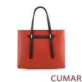 CUMAR  輕奢質感手提斜背包-楓葉紅