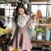 超殺29折 韓系時尚純色襯衫背帶裙氣質套裝長袖裙裝