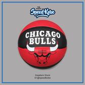 SPALDING 籃球 NBA 公牛 隊徽 紅黑 室外 7號球 SPA83173【SP】