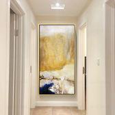 現代簡約趙無極抽象油畫手繪歐式豎版客廳走廊過道玄關有框裝飾畫WY 【快速出貨八折免運】