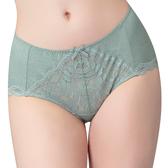 思薇爾-有氧森活系列M-XXL蕾絲中腰三角內褲(光譜綠)
