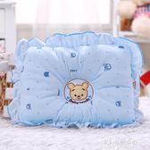 寶寶嬰兒枕頭3-6-9個月男女小孩防偏頭固定定型小熊枕頭枕芯0-1歲  朵拉朵衣櫥
