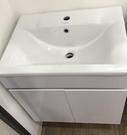【麗室衛浴】破盤超低價 60公分 1077臉盆+發泡板烤漆防水浴櫃