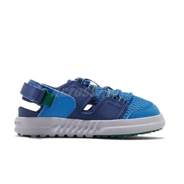 New Balance 涼拖鞋 ITTRKLA1 W Wide 寬楦 藍 綠 童鞋 小童鞋 魔鬼氈 涼鞋【ACS】 ITTRKLA1W
