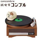 Hamee 日本 DECOLE concombre 昭和喫茶店 療癒公仔擺飾 (貓咪唱盤) 586-924481